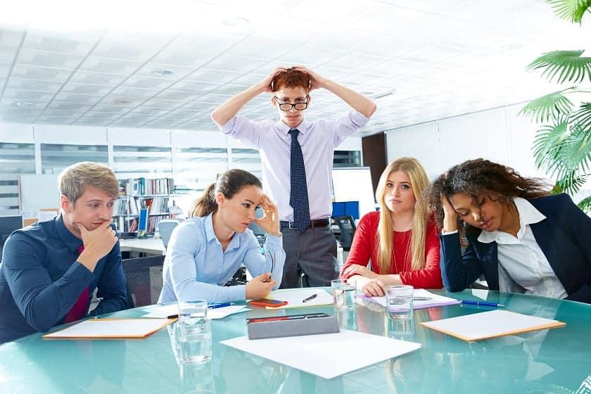 Unorganized work meeting